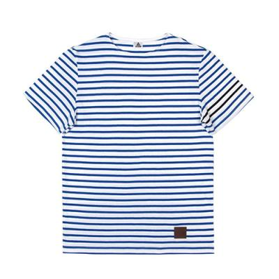 SHORT SLEEVE BORDER TEE-BLUE