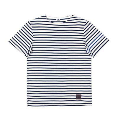 SHORT SLEEVE BORDER TEE-NAVY