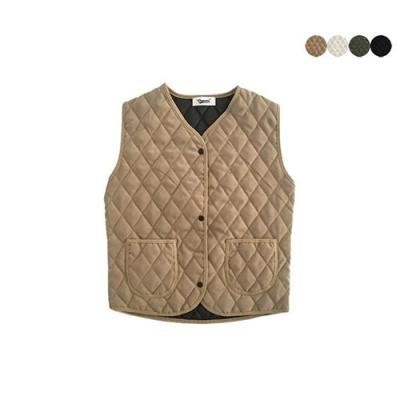 SUEDE QUILTING VEST(4color)*여성용
