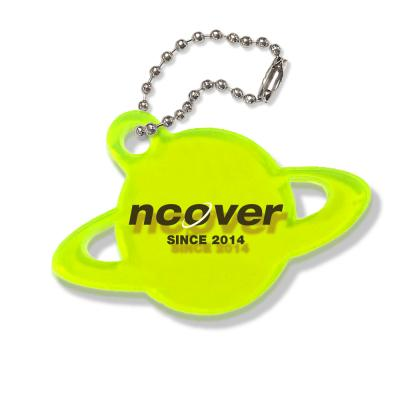 Saturn logo-neon green(key ring)